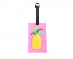 Pineapple Silicon Luggage Tag. Pink