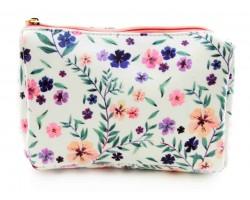 Pastel Multi Floral Print Vinyl Bag Accessory
