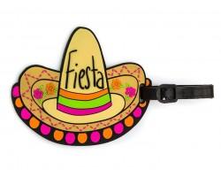 Multi Fiesta Sombrero Silicon Luggage Tag