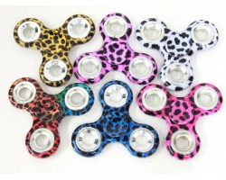 Assorted Leopard Print Color Fidget Spinners