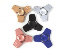 Assorted Colors Metal Squared Fidget Spinners