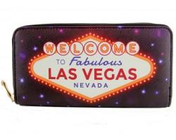 Multi Welcome Las Vegas Zipper Wallet