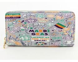 Mardi Gras Theme Party Roller Zipper Wallet