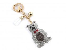 White Polar Bear Tassel Puffy Keychain