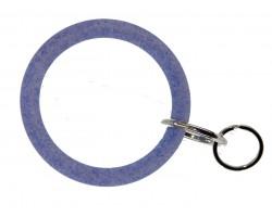 Blue Glitter Silicon Bangle Key Chain