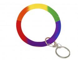 Multi Color Silicon Bangle Key Chain