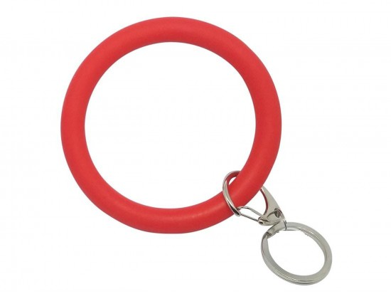 Red Silicon Bangle Key Chain