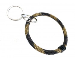 Black Gold Crystal Bangle Key Chain