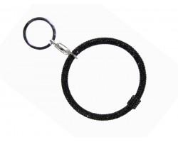 Black Crystal Bangle Key Chain