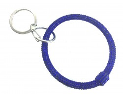 Blue Crystal Bangle Key Chain