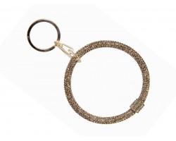 Gold Crystal Bangle Key Chain