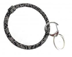 Gray Multi Crystal Bangle Key Chain