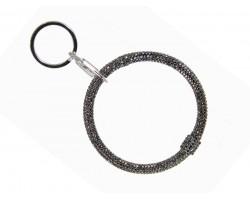 Hematite Crystal Bangle Key Chain