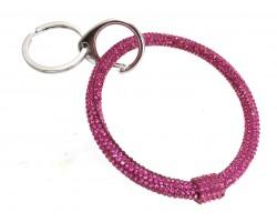 Hot Pink Crystal Bangle Key Chain