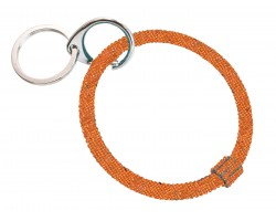 Orange Crystal Bangle Key Chain