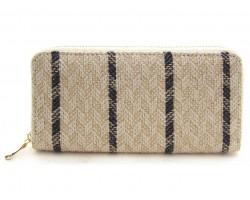 Blue Weave Pattern Zipper Wallet