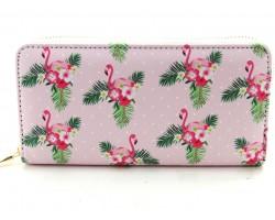 Pink Flamingo Zipper Wallet