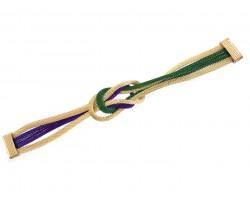 Mardi Gras Knot Mesh Magnetic Bracelet