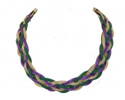 Mardi Gras Braided Mesh Necklace