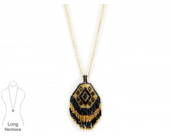 Black Gold Seed Bead Necklace