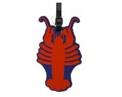 Red Crawfish Silicone Luggage Tag