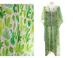 Green Cactus Long Tail Kimono