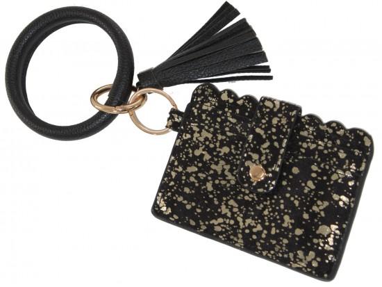Black Gold Keychain Wallet Ring Bracelet