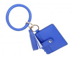 Blue Keychain Wallet Ring Bracelet