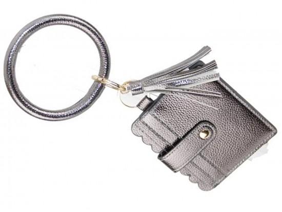 Hematite Keychain Wallet Ring Bracelet