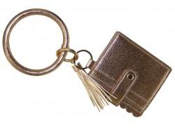 Rose Gold Keychain Wallet Ring Bracelet