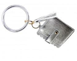 Silver Keychain Wallet Ring Bracelet
