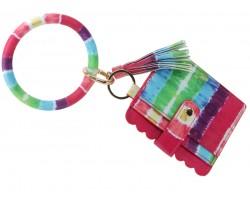 Mulit Tie Dye Wallet Bangle Keychain