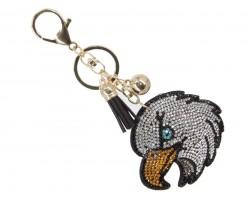 Eagle Head Crystal Tassel Key Chain