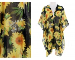 Black Sunflower Kimono