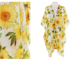 White Sunflower Kimono