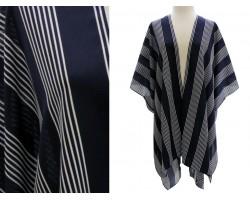 Navy Blue Stripe Kimono