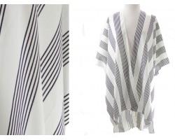 White Stripe Kimono