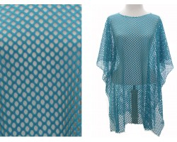 Teal Net Style Poncho