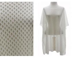 White Net Style Poncho