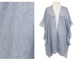 Blue Ruffle Kimono