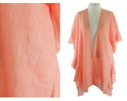 Orange Ruffle Kimono