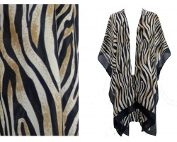 Brown Zebra Pattern Kimono