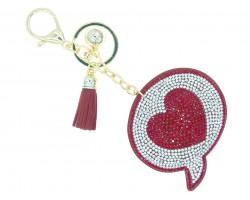 Red Heart Emoji Bubble Puffy Key Chain