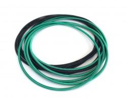 Green Black Mix Guitar String Bracelet 10pc Set