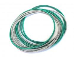 Green Silver Mix Guitar String Bracelet 10pc Set