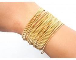 Gold Guitar String Bracelet 10pc Set
