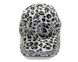 NOLA Crystal Gray Leopard Ball Cap