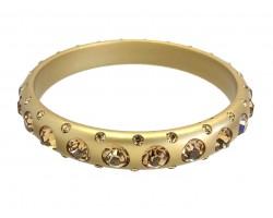 Gold Crystal Band Bangle Bracelet