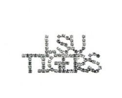 Clear Crystal LSU TIGERS Brooch