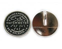 Antique SIlver Water Meter Pendants 1dz